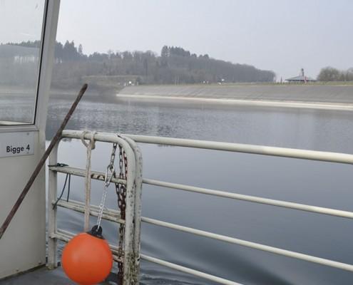 Biggetalsperre vom Boot aus