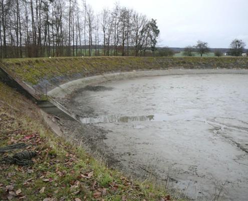 Oberbecken des Kraftwerks Reutlingen
